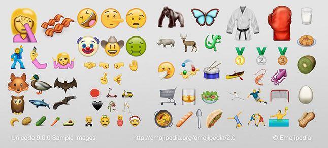 72 New emoji coming with Unicode 9.0.JPG