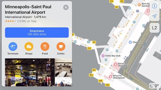 Indoor maps added for 8 more airports in Apple Maps.JPG