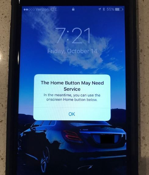 iPhone 7 has workaround for taptic home button failure.JPG