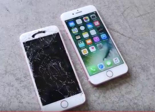 iPhone 7 survive 10 foot face down drop.JPG