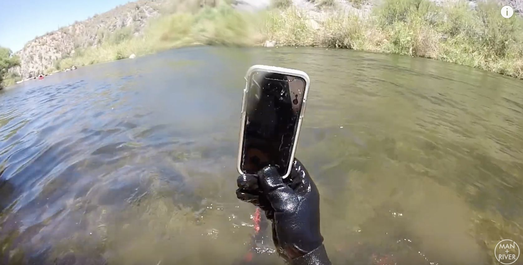 Lost iPhone X Goes on a fantastic river journey.jpeg