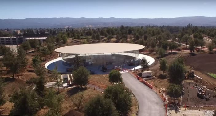 New Apple Park drone video shows Steve Jobs Theater.JPG