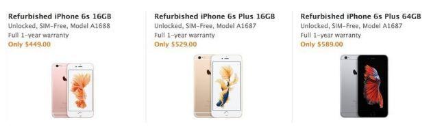 Refurbished iPhones arrive in official Apple refurb store.JPG
