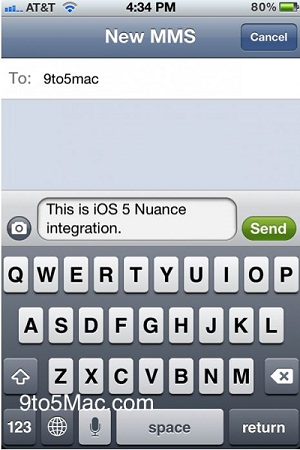 speech to text iOS 5